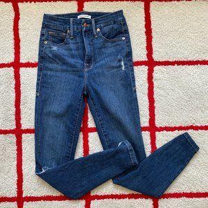 Good American Good Waist Raw Edge Crop Denim Jean